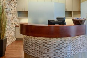 Parkway Dentistry front lobby reception area